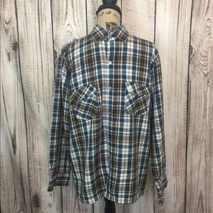 Vintage Ralph Lauren POLO plaid Flannel Shirt XL